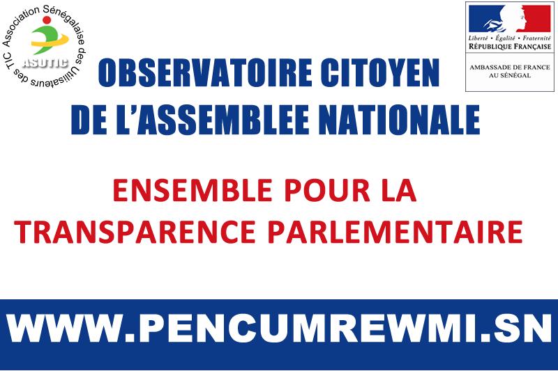 Projet observatoire de l'assemblée nationale du sénégal